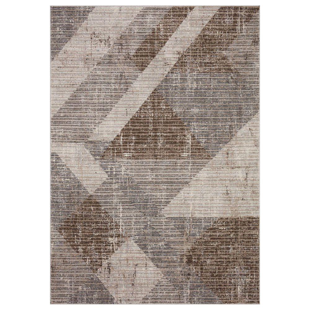 "Loloi II Austen AUS-04 5'3"" x 7'7"" Stone and Bark Area Rug, , large"