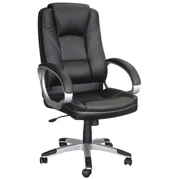 New Era Holding Group LTD Executive Desk Chair in Black Bonded Leather, , large
