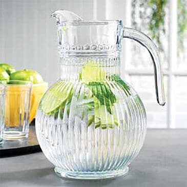 Home Essentials & Beyond 68 Oz Cellini Glass Pitcher, , large