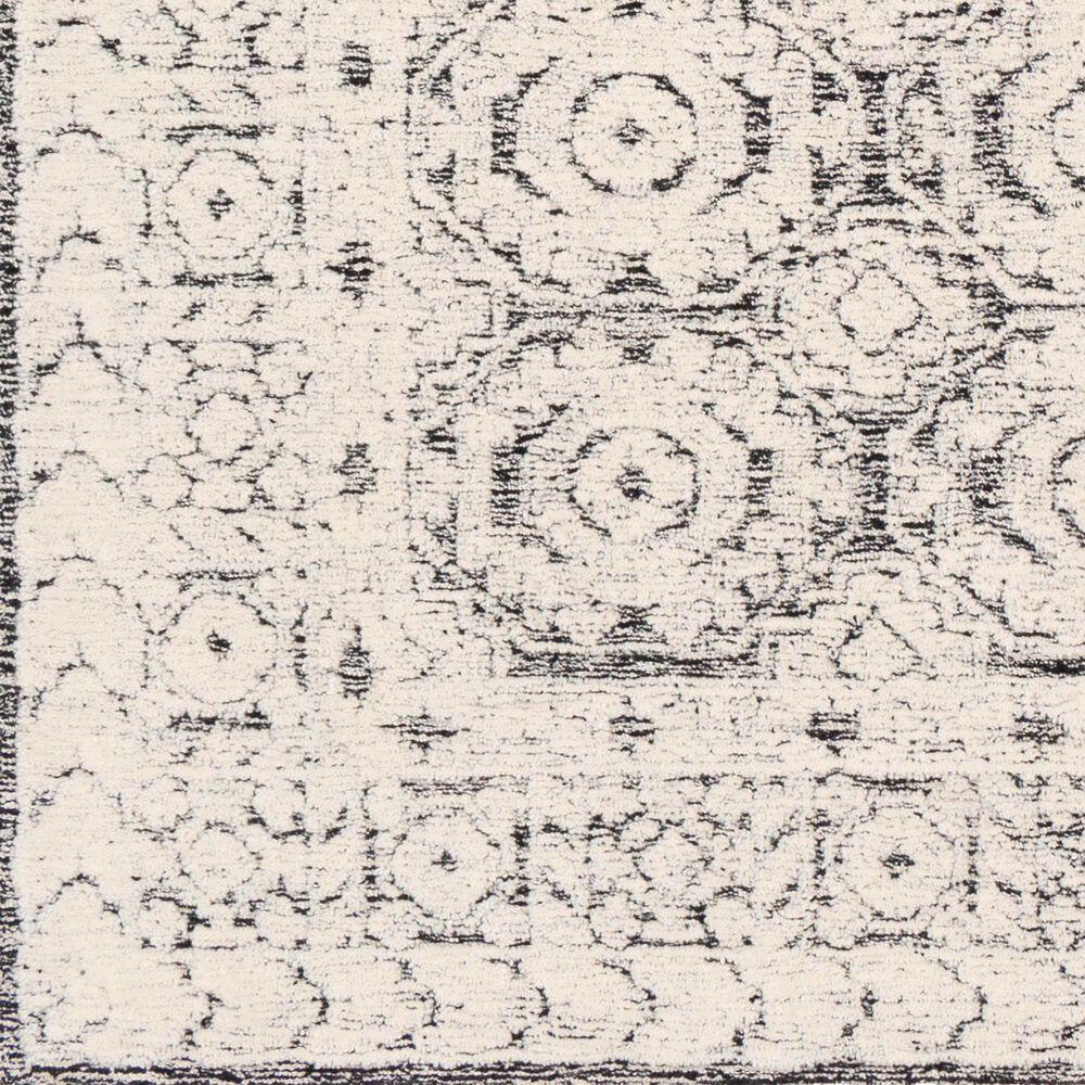 Surya Louvre LOU-2303 8' Round Black, Ivory and Cream Area Rug, , large