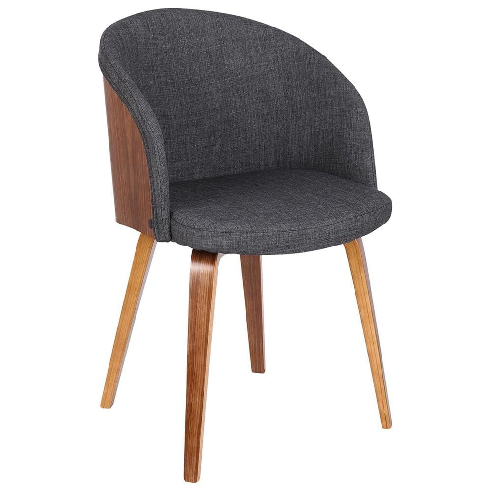 Blue River Alpine Dining Chair in Charcoal and Walnut, , large