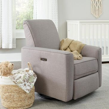 Eastern Shore Aspen Glider Chair in Sand with Power and USB, , large