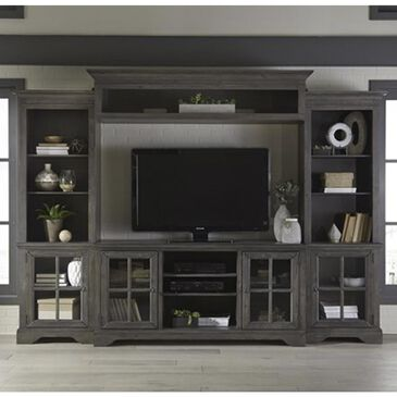 at HOME Dilworth 4-Piece Entertainment Center in Storm Gray, , large