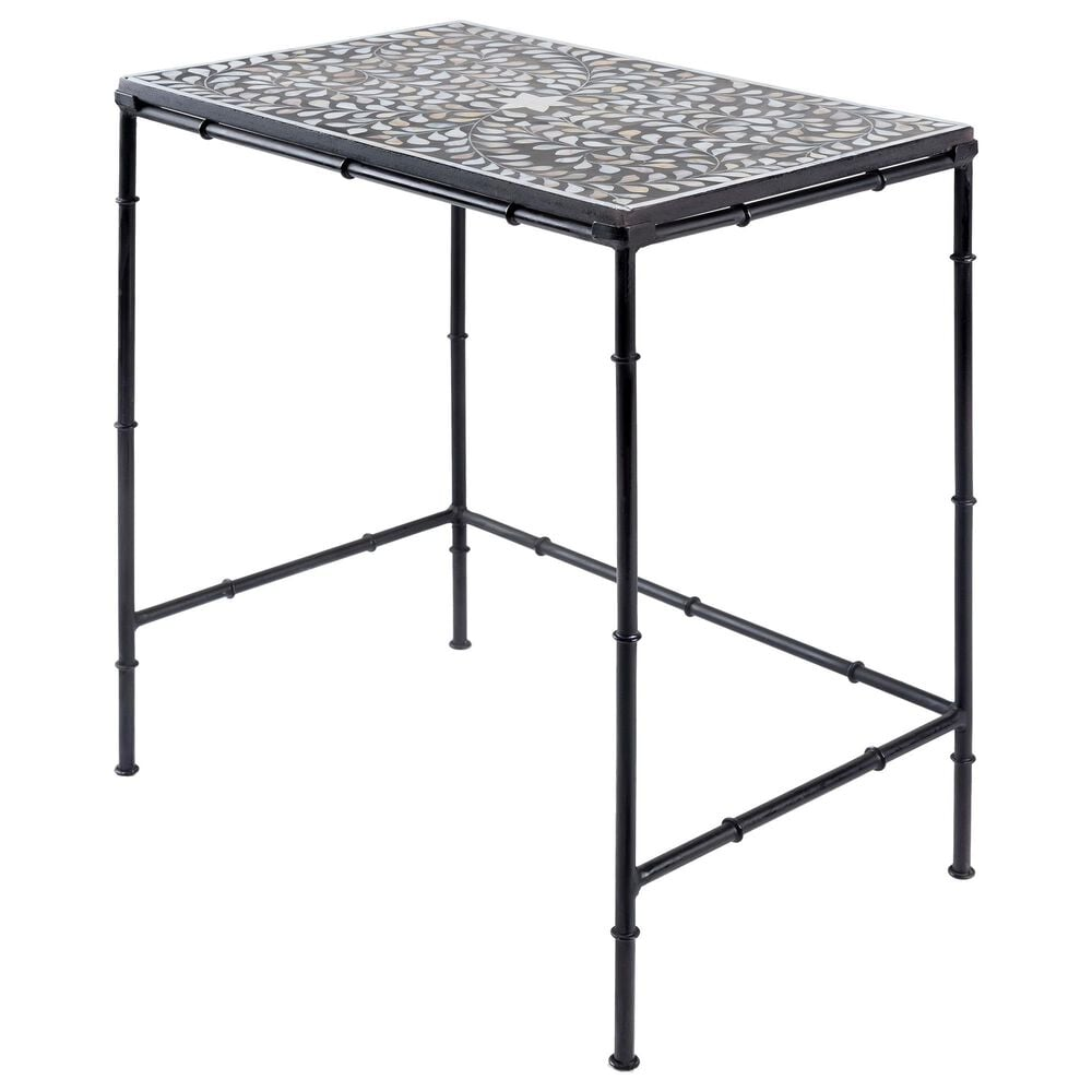 Surya Inc Kaira Nesting Table Set in Black and Bone, , large
