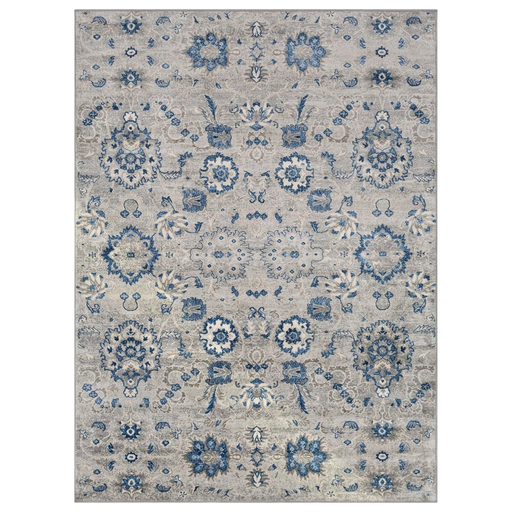 Surya Monaco MOC-2308 2' x 3' Gray, Silver, Bright Blue, Navy and Cream Scatter Rug, , large