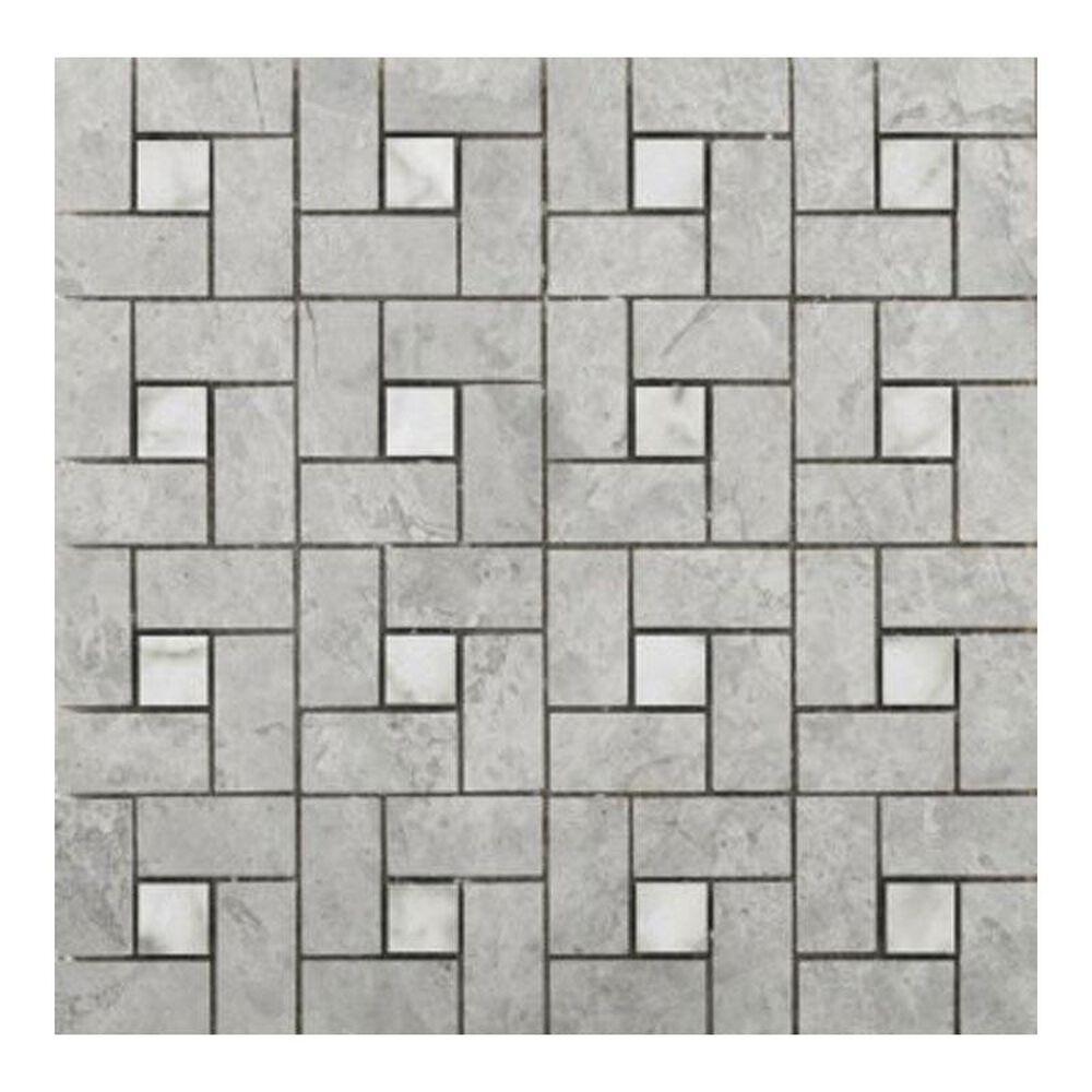 """Emser Pinwheel Silver 12"""" x 12"""" Natural Stone Tile, , large"""