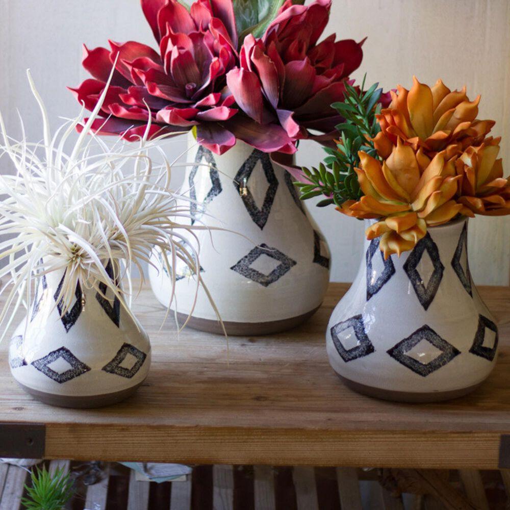 Kalalou Vases in Off White (Set of 3), , large