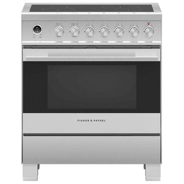 """Fisher and Paykel 30"""" Induction Electric Freestanding Range in Stainless Steel, , large"""