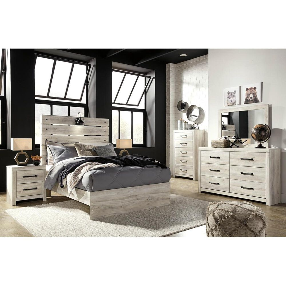 Signature Design by Ashley Cambeck 2 Drawer Nightstand in Whitewash with USB Ports, , large