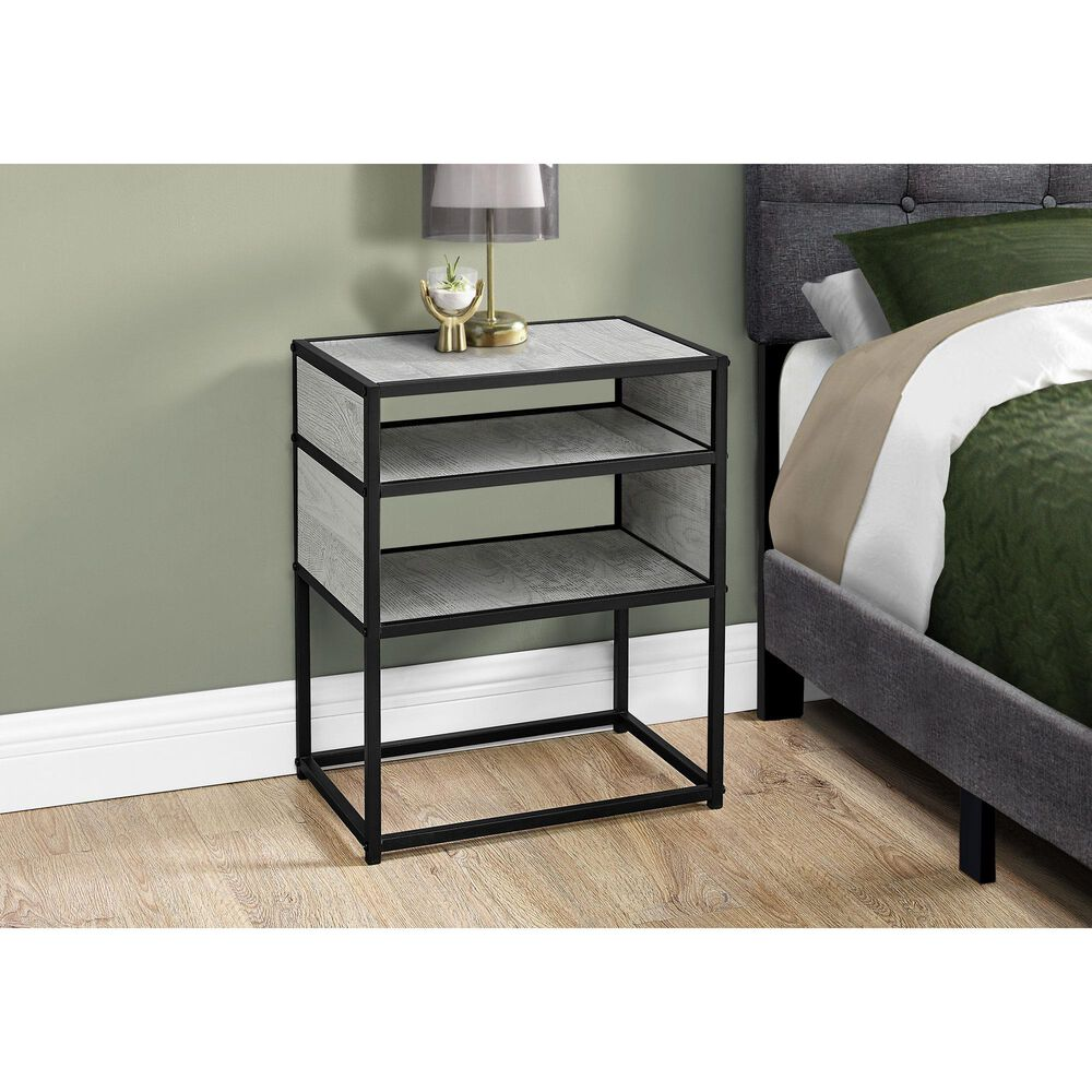 Monarch Specialties Accent Table in Grey, , large