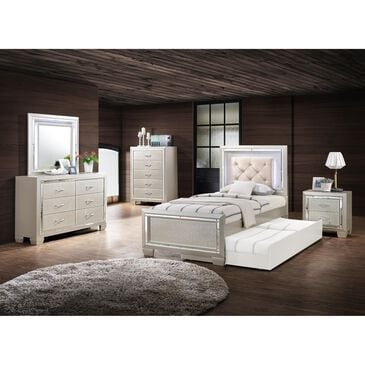 Mayberry Hill Platinum Youth 3 Piece Twin Bedroom Set in Platinum, , large