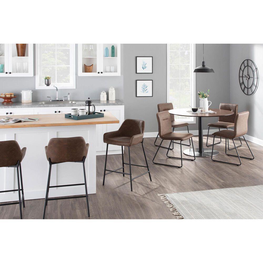 Lumisource Casper Dining Chair in Espresso/Black (Set of 2), , large