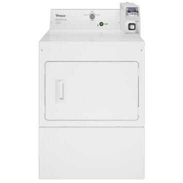 """Whirlpool 27"""" Commercial Gas Dryer in White, , large"""