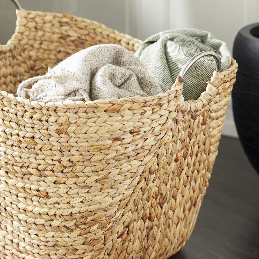 """Maple and Jade 19"""" x 21"""" Basket in Brown, , large"""