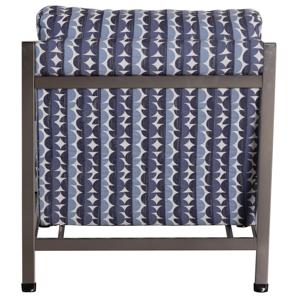 Moda Mansfield Metal Accent Chair in Buena Vista Denim, , large