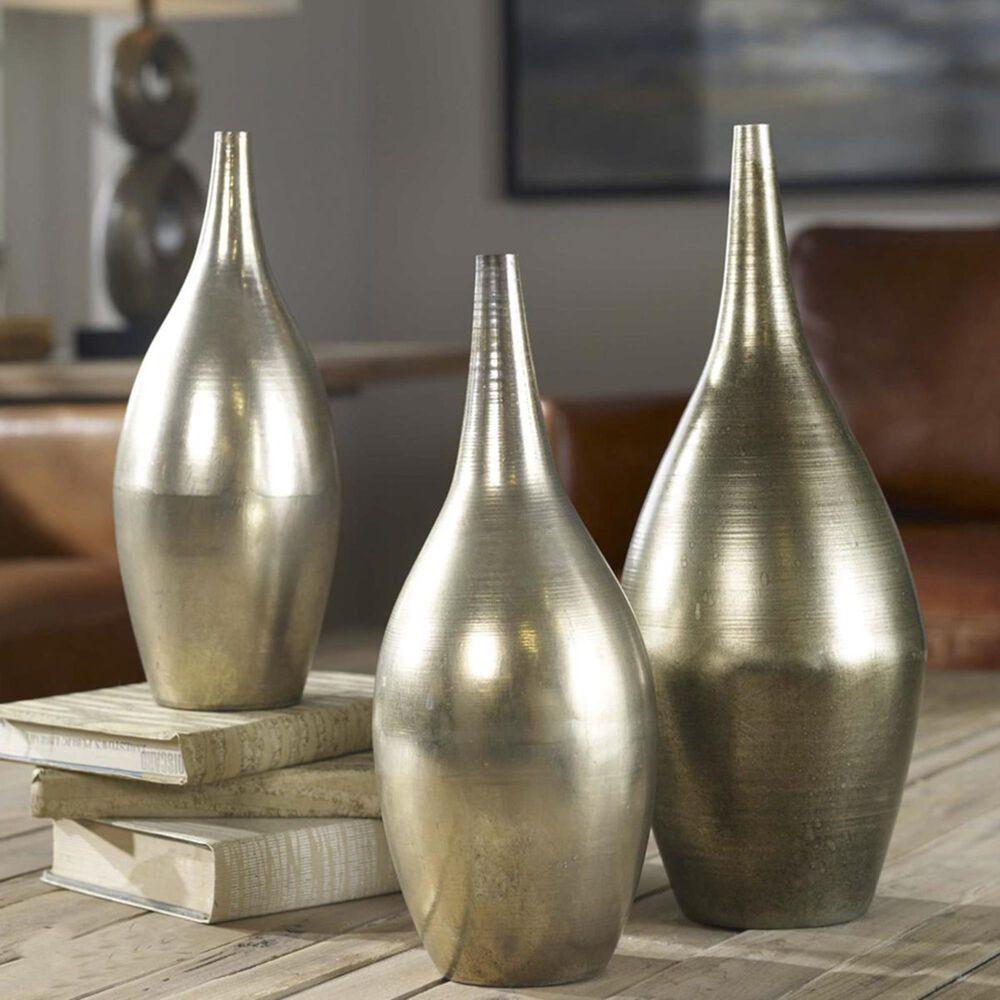 Uttermost Rajata Silver Vases (Set of 3), , large