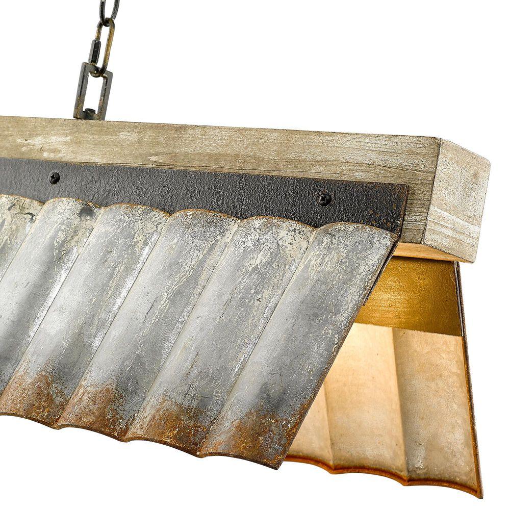 Golden Lighting Waylon Linear Pendant in Antique Black Iron, , large