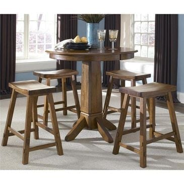 Belle Furnishings Creations II Counter Height Table in Tobacco - Table Only, , large