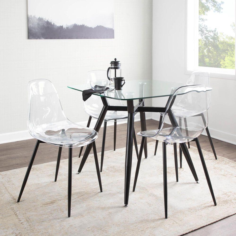Lumisource Clara Dining Table in Black/Black, , large