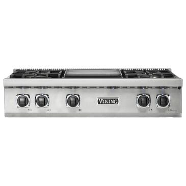 """Viking Range 36"""" Natural Gas Rangetop with 4 Burners in Stainless Steel, , large"""