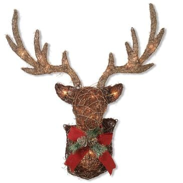 """The Gerson Company GIL 32"""" Lighted Vine Stag Head Wall Decor, , large"""