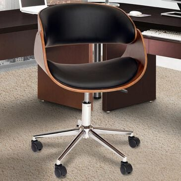 Blue River Julian Office Chair in Black and Walnut, , large
