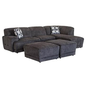 Ball Creek Designs 2-Piece Sectional and Ottoman Set in Cornell Pewter, , large
