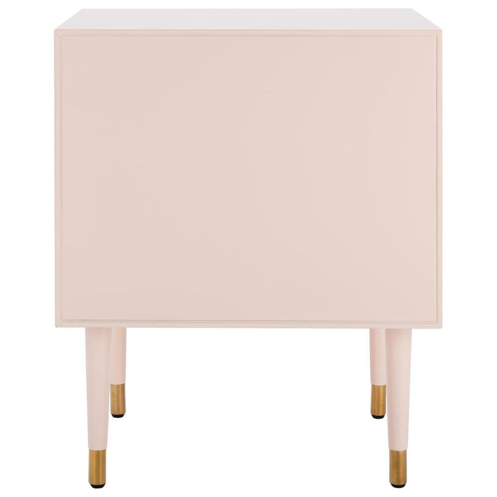 Safavieh Neptune 2-Door Side Table in Light Pink and Gold, , large