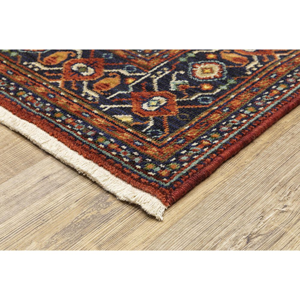 """Oriental Weavers Lilihan Medallion 001C6 2'6"""" x 12' Red and Blue Runner, , large"""