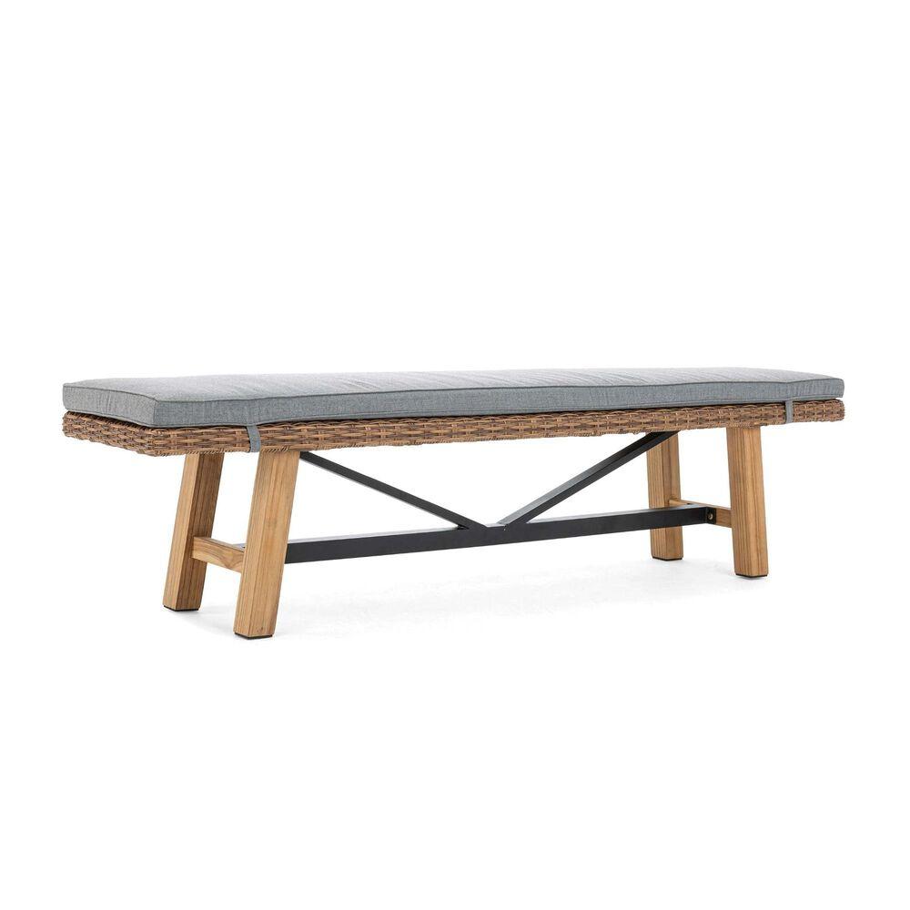 Winston Truss Bench in Cast Slate, , large