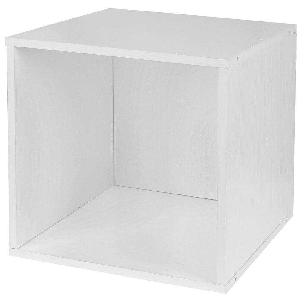 Regency Global Sourcing Niche Cubo 9-Piece Storage Set in White Wood Grain and White, , large
