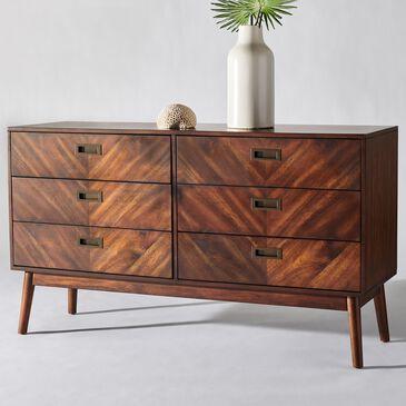 Safavieh Donald 6 Drawer Dresser in Dark Walnut, , large