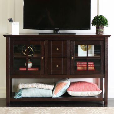 """Walker Edison 52"""" Wood Console Table TV Stand in Espresso, , large"""