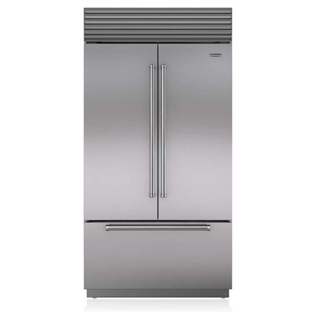"""Sub Zero 42"""" Built-In French Door in Stainless Steel with Tubular Handle, , large"""
