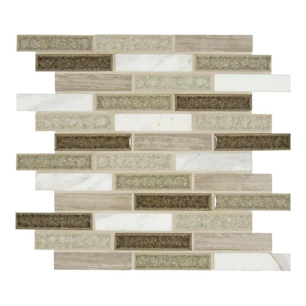 "MS International Crystal Cliffs 12"" x 12"" Glass and Stone Mix Mosaic Sheet, , large"