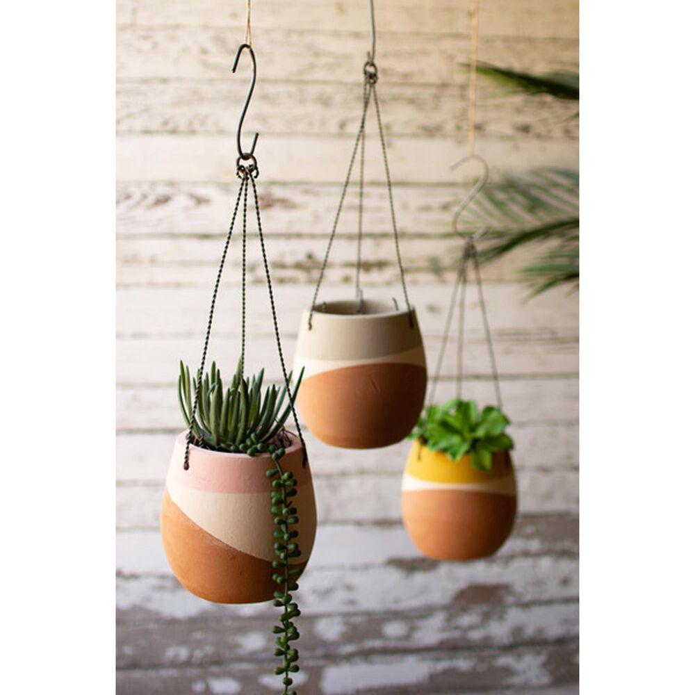 Kalalou Hanging Clay Pots (Set of 3), , large