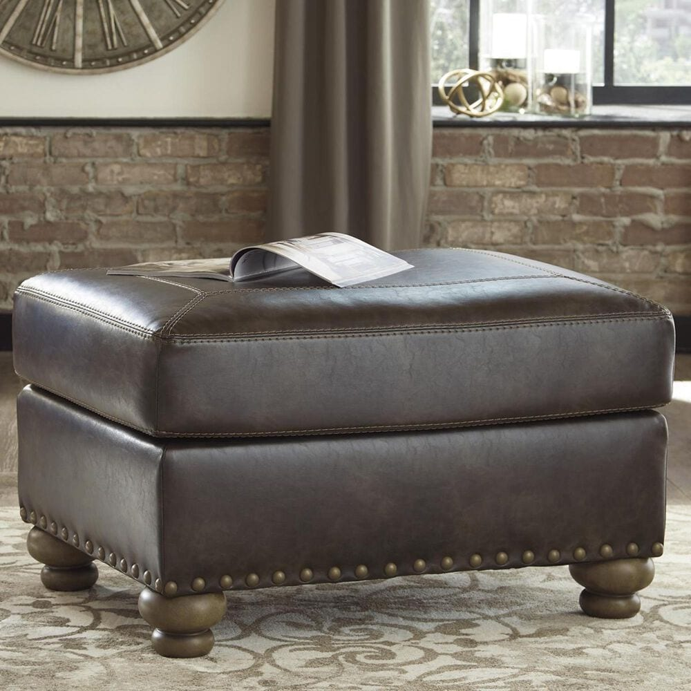 Signature Design by Ashley Nicorvo Ottoman in Coffee, , large