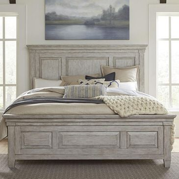 Belle Furnishings Heartland Queen Panel Bed in Antique White, , large