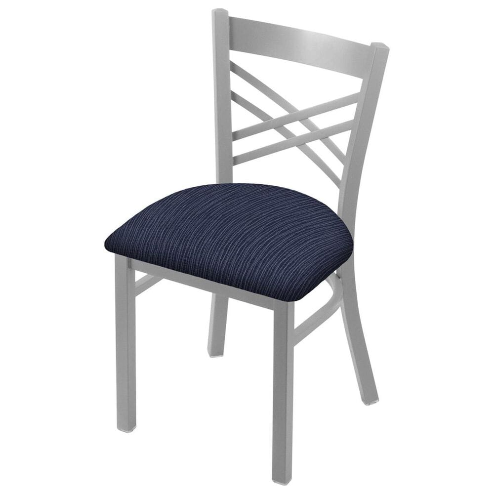 """Holland Bar Stool 620 Catalina 18"""" Chair with Anodized Nickel and Graph Anchor Seat, , large"""