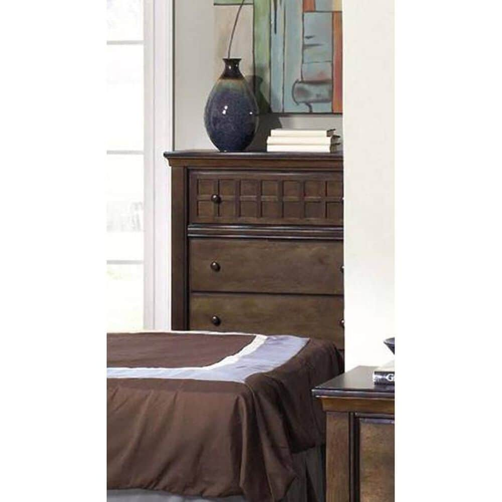 Tiddal Home Casual Traditions 5-Drawer Chest in Walnut, , large