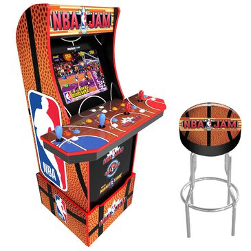 Arcade1up NBA Jam Arcade with Riser + Stool, , large