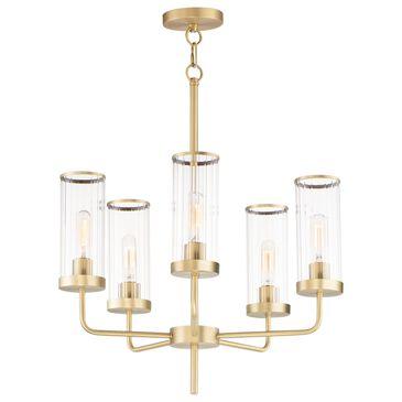 Maxim Lighting Crosby 5-Light Chandelier in Satin Brass, , large