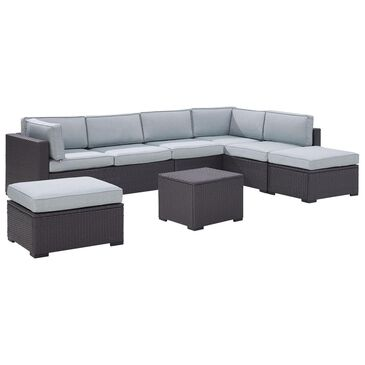 Firefly Biscayne 7 Person Wicker Sectional in Mist, , large