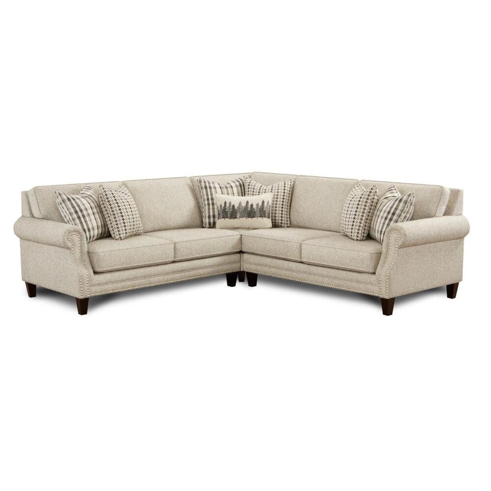 Xenia 3-Piece Sectional with Ottoman in Paperchase Berber, , large