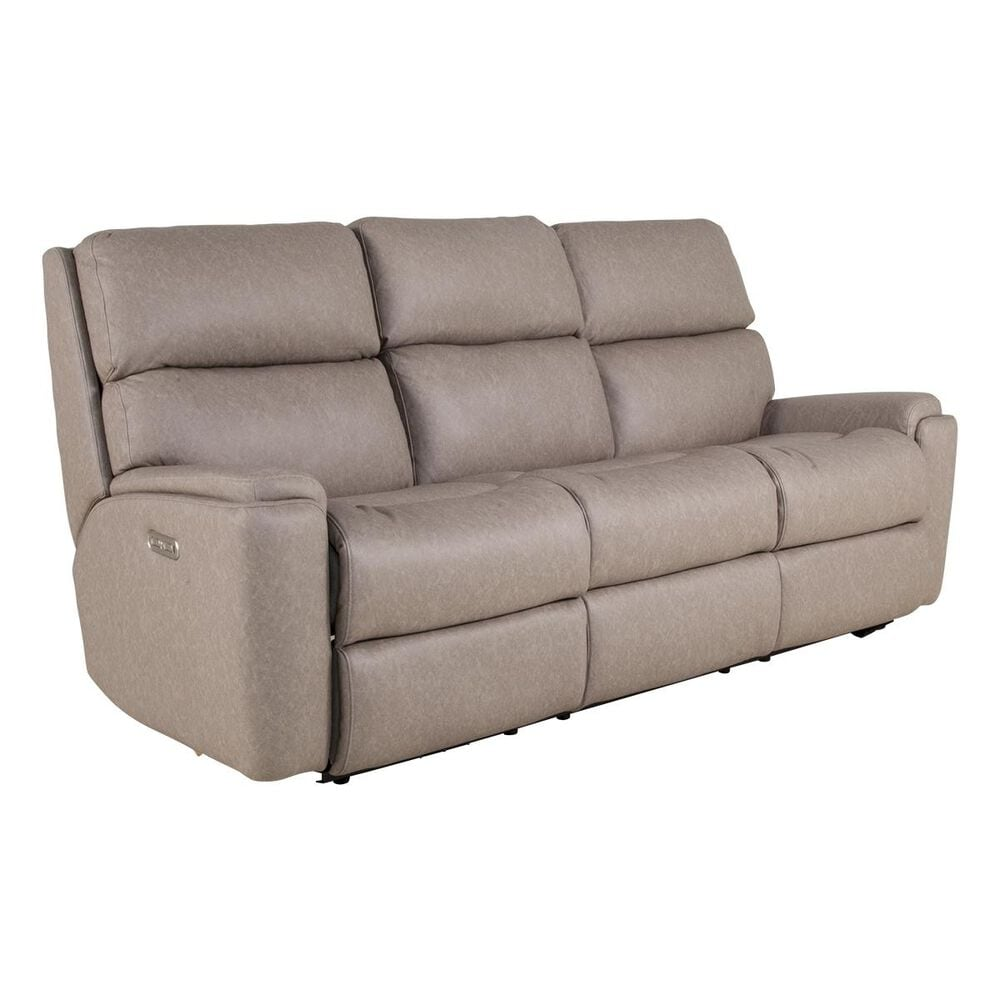 Flexsteel Rio Power Reclining Sofa with Power Headrest in Flint, , large