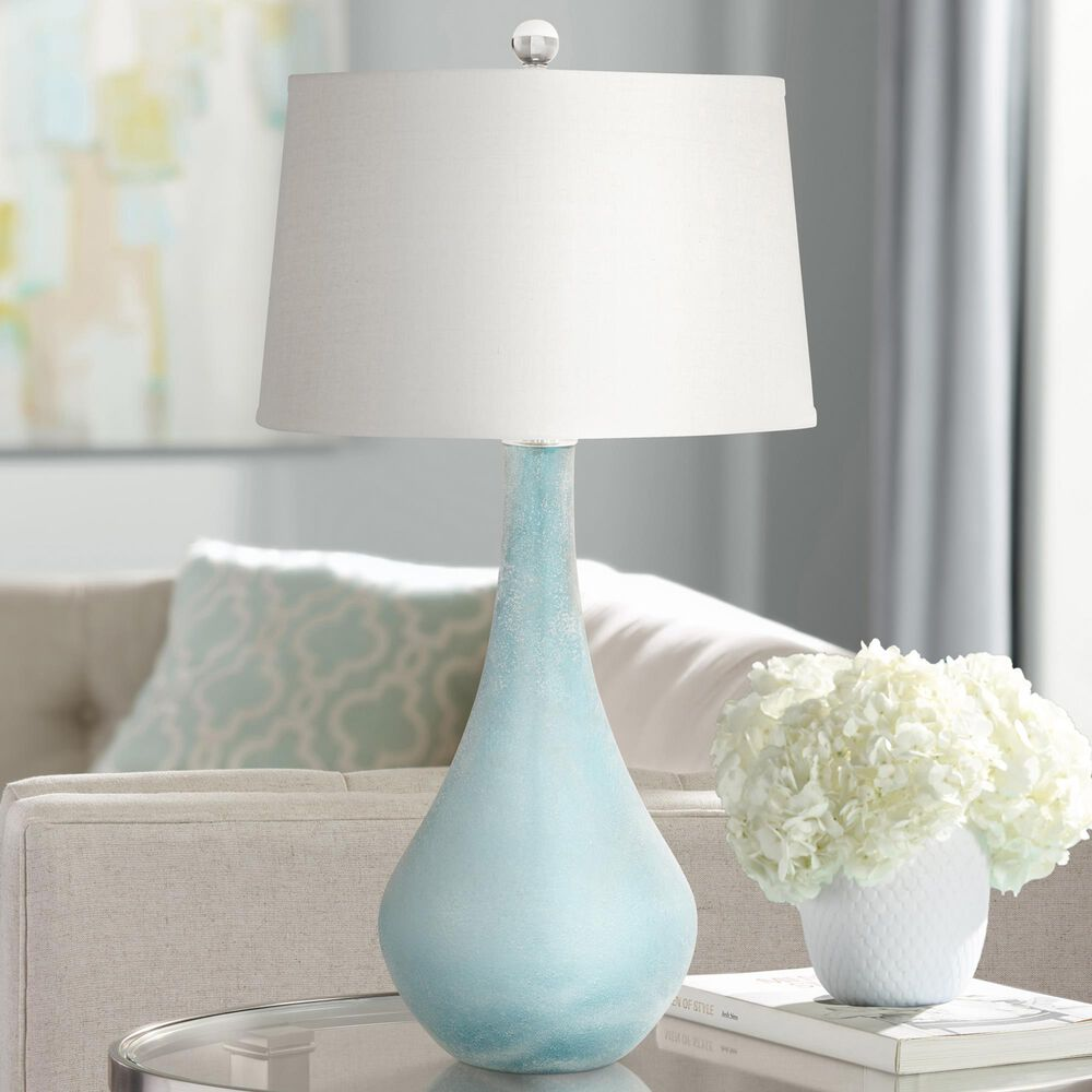 Pacific Coast Lighting City Shadow Table Lamp in Teal Blue, , large