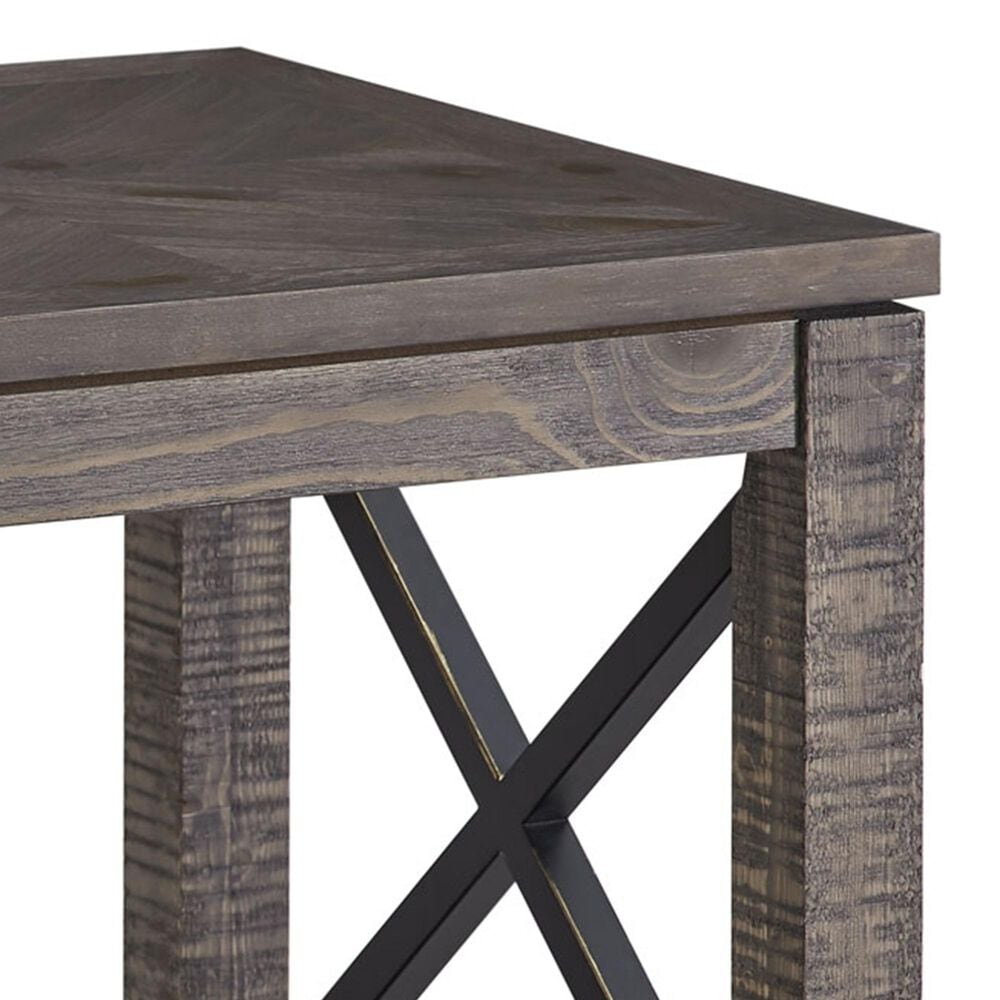 Crystal City Dexter End Table in Driftwood, , large