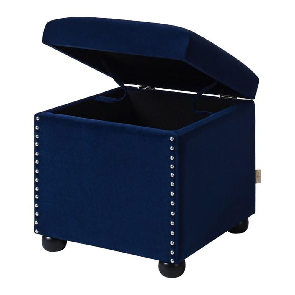 Jennifer Taylor Home Sapphire Storage Cube in Navy Blue, , large