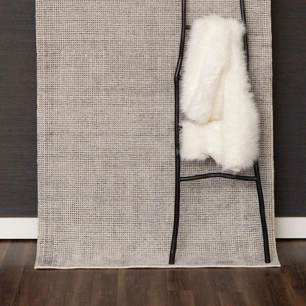Karastan Labyrinth RG176-945 9' x 12' Matrix Steel Grey Area Rug, , large