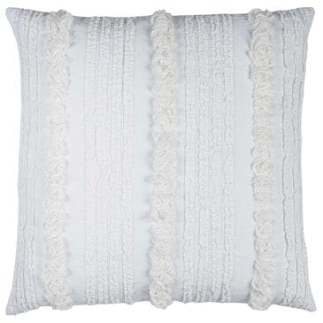 "Rizzy Home 20"" x 20"" Down Pillow in White with Ruffles, , large"